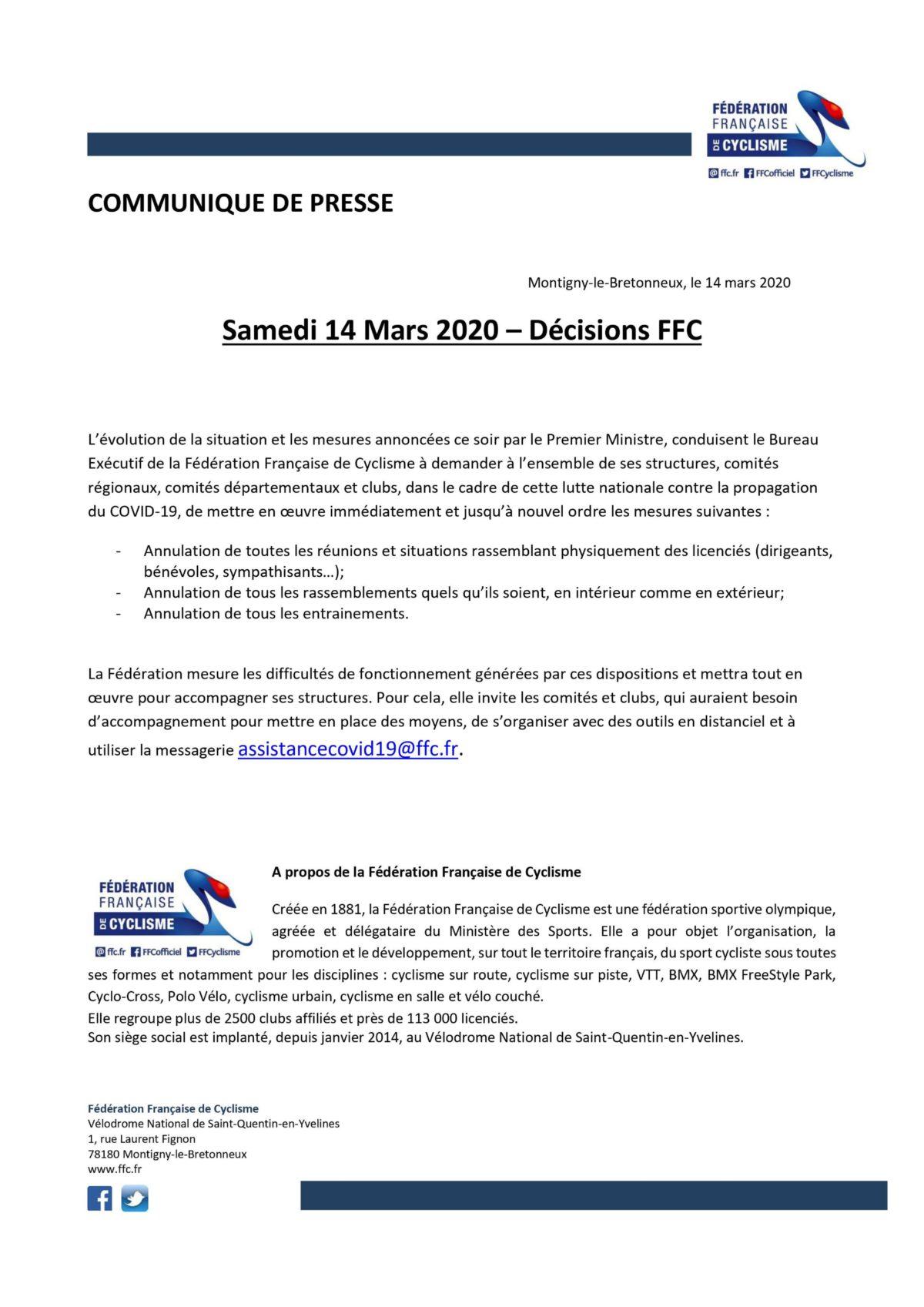 Communiqué FFC